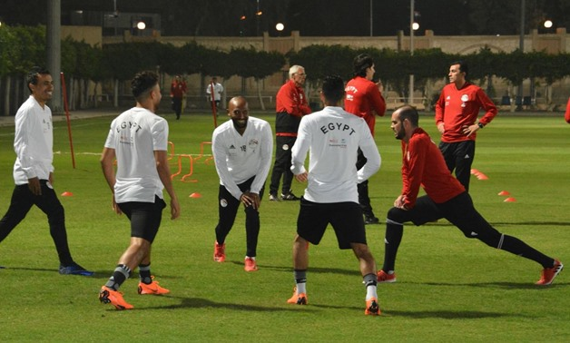 FILE – Egyptian national team during training