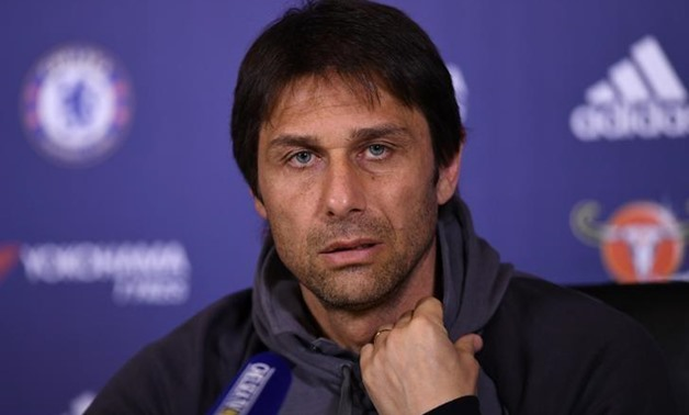 Chelsea Training Ground - 4/4/17 Chelsea manager Antonio Conte during the press conference Action Images via Reuters / Tony O'Brien