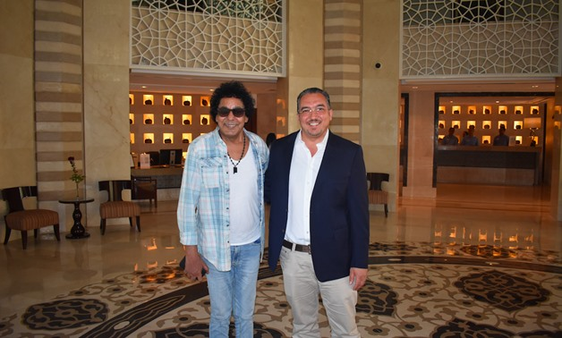 Mohamed Mounir during his stay at the Hilton Luxor Resort & Spa