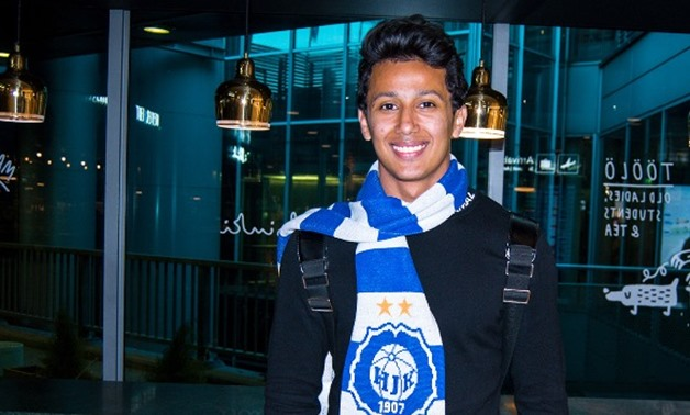 Amr Gamal arrives in Finland to join HJK Helsinki – Photo Courtesy of HJK Helsinki's website