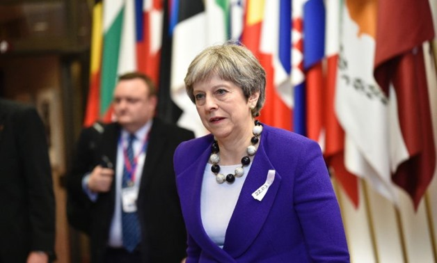 EU leaders have united behind British Prime Minister Theresa May in blaming Russia for a nerve agent attack on former double agent and his daughter in England (AFP Photo/JOHN THYS)