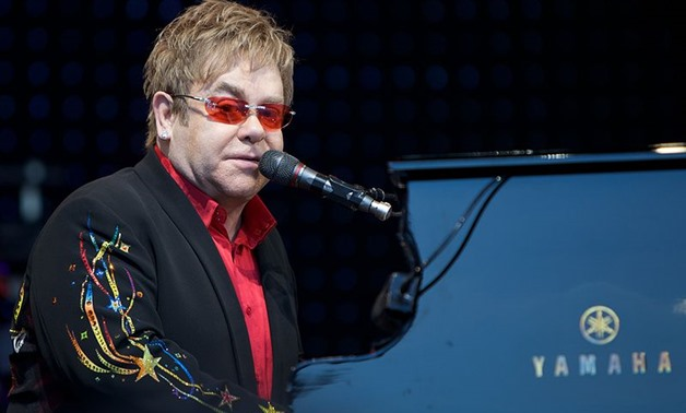 Photograph of Elton John performing in Norway, June 20, 2009 – Wikimedia Commons/Ernst Vikne