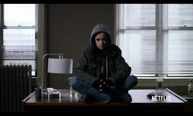 "Screencap from the trailer for ""Jessica Jones"", March 25, 2018 – YouTube/Netflix"
