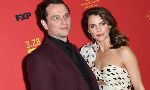 "Matthew Rhys et Keri Russell -- the stars of ""The Americans"" -- attend the premiere of the final season in New York"