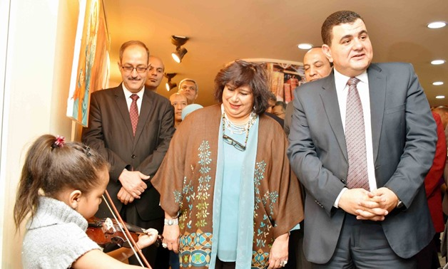 Minister of Culture, Ines AbdelDayem at the opening ceremony of three new halls at Dar El Kotob, -Photo courtesy of official statement by Ministry of Culture.