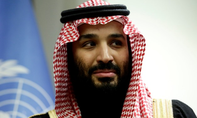 Saudi Arabia's Crown Prince Mohammed bin Salman Al Saud is seen during a meeting with U.N Secretary-General Antonio Guterres at the United Nations headquarters in the Manhattan borough of New York City, New York, U.S. March 27, 2018. REUTERS/Amir Levy