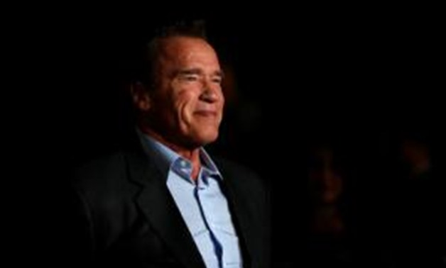 """FILE PHOTO: Actor Arnold Schwarzenegger poses at a premiere for """"The 15:17 to Paris"""" in Burbank, California, U.S., February 5, 2018. REUTERS/Mario Anzuoni."""