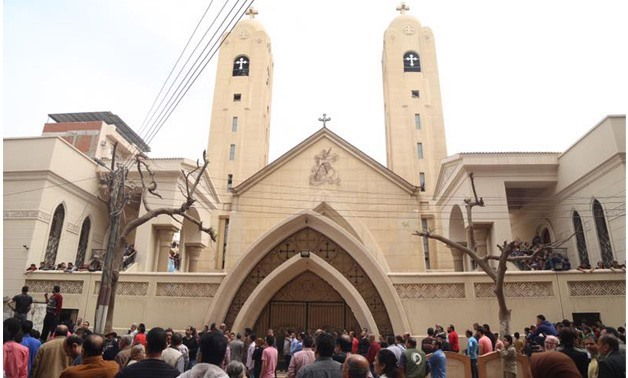 Mar Girgis church after the explosion that targeted it during Palm Sunday services on April 2017 - Egypt today /Mohamed El Hosary