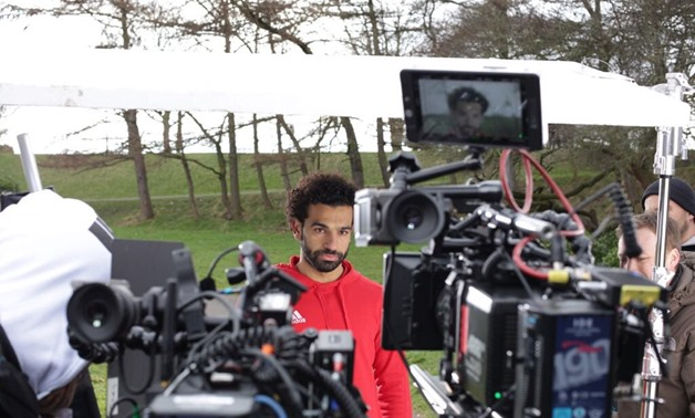 Mohamed Salah during shooting- Salah's official Twitter account