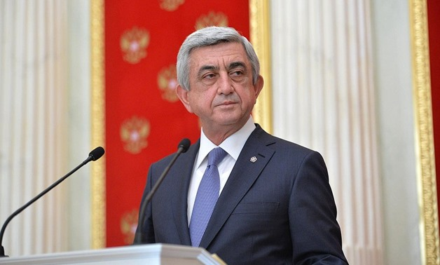 President of Armenia Serzh Sargsyan at a joint news conference with Russian President Vladimir Putin, August 2016 – President of Russia