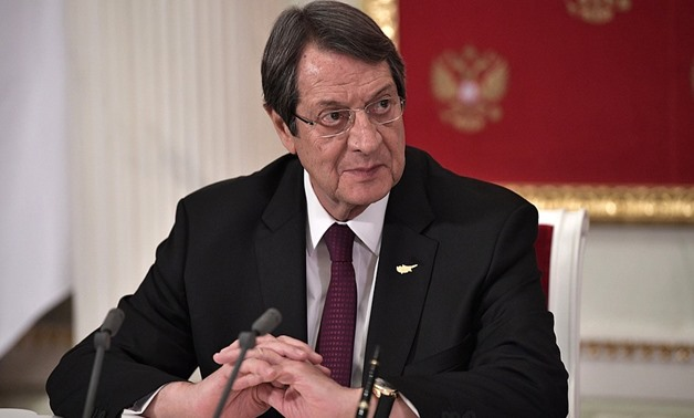 President of the Republic of Cyprus Nicos Anastasiades meets Russian counterpart Vladimir Putin at the Kremlin, October 2017 – President of Russia