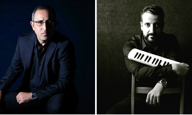Collage picture of Music composer and film scorer Tamer Karawan and Pianist Muhammed Naglah