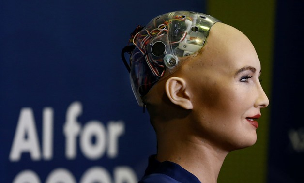 """I think you're very lucky if you have a loving family and if you do not, you deserve one. I feel this way for robots and humans alike,"" Sophia said. © Denis Balibouse / Reuters"