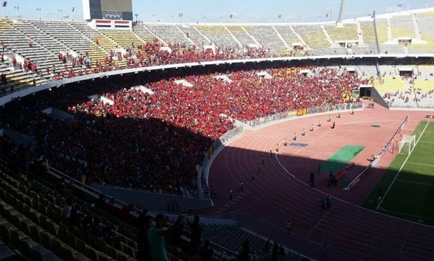 Al-Ahly fans at Borg el-Arab stadium – Egypt Today