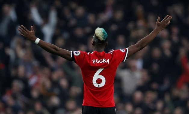 Soccer Football - Premier League - Manchester City vs Manchester United - Etihad Stadium, Manchester, Britain - April 7, 2018 Manchester United's Paul Pogba celebrates Action Images via Reuters/Lee Smith