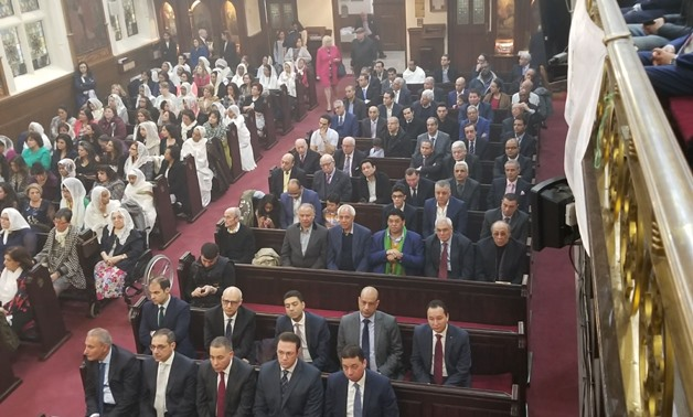 Egypt's Ambassador to the UK, Nasser Kamel, takes parts in the Easter celebrations of the Egyptian Church in London, April 8, 2018 - Egypt Today