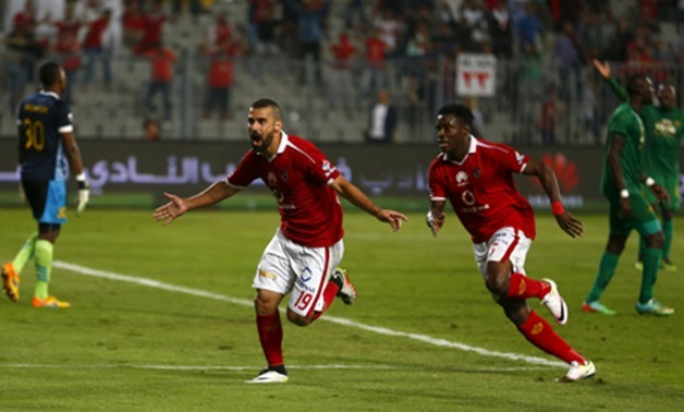 Ahly's Abdallah El Said celebrates a goal during a CAF Champions League game, April 4, 2016 – Reuters, Amr Dalsh