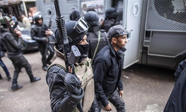 Egyptian police forces patrol streets - File photo
