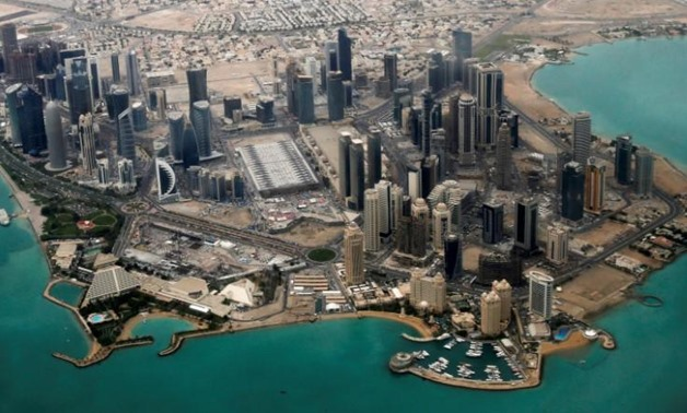 FILE: An aerial view of Doha's diplomatic area March 21, 2013 - REUTERS