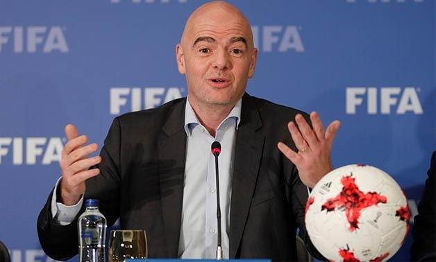 FIFA President Gianni Infantino holds a news conference in Istanbul, Turkey, November 23, 2017 – REUTERS/ Osman Orsal