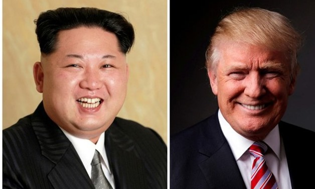 A combination photo shows a Korean Central News Agency (KCNA) handout of Kim Jong Un released on May 10, 2016, and Donald Trump posing for a photo in New York City, U.S., May 17, 2016. REUTERS/KCNA handout via Reuters/File Photo & REUTERS/Lucas Jackson/Fi