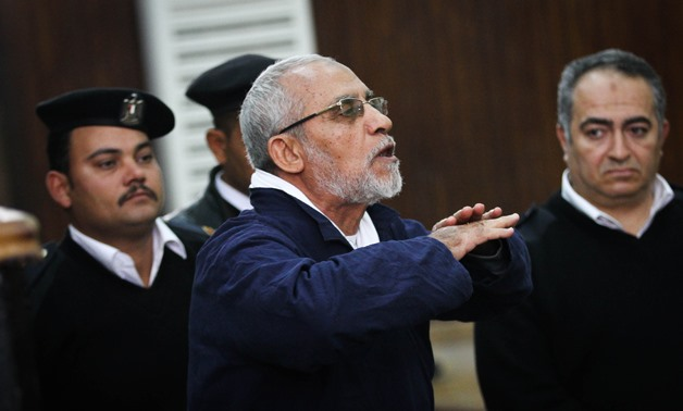 Mohamed Badie, the supreme guide of the outlawed Muslim Brotherhood organization - File photo