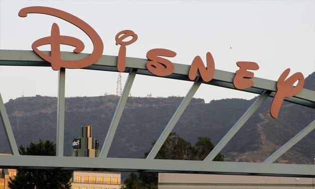 A part of the signage at the main gate of The Walt Disney Co. is pictured in Burbank, California, May 7, 2012 - REUTERS/Fred Prouser