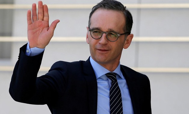 German Foreign Minister Heiko Maas waves upon his arrival to meet with Palestinian President Mahmoud Abbas meets in Ramallah, in the occupied West Bank March 26, 2018. REUTERS/Mohamad Torokman/File Photo