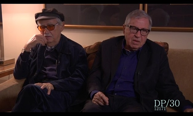 Screencap of the Taviani Brothers, Vittorio (Left) and Paolo (Right), April 16, 2018 – Youtube/DP/30: The Oral History Of Hollywood