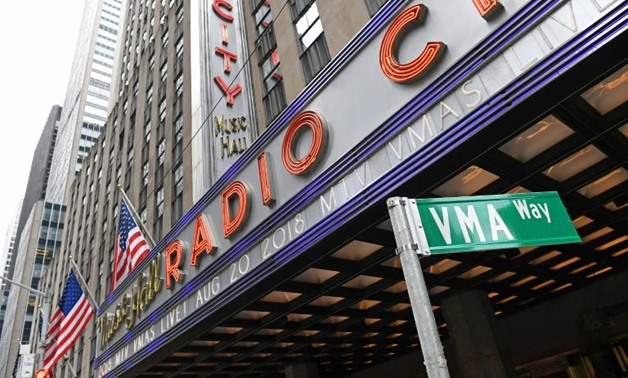 AFP / ANGELA WEISS Radio City Music Hall in New York, where the 2018 MTV Video Music Awards will return and air live in August