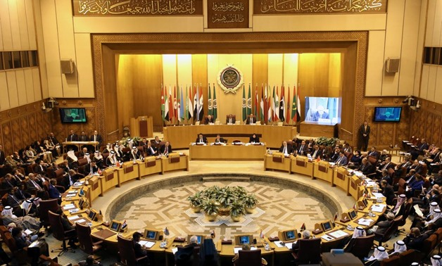 FILE- Arab League foreign ministers hold an emergency meeting on Trump's decision to recognise Jerusalem as the capital of Israel, in Cairo, Egypt December 9