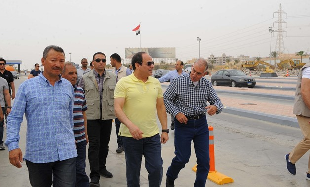 Sisi inspects Cairo-Sokhna Road development works