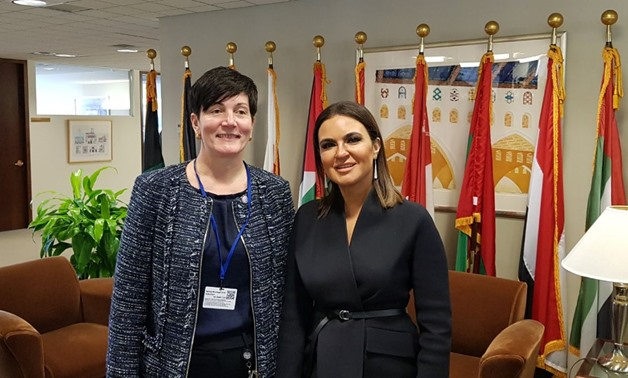 IFC's Chief Business Officer Stephanie von Friedberg and Minister of Investment and International Cooperation Sahar Nasr