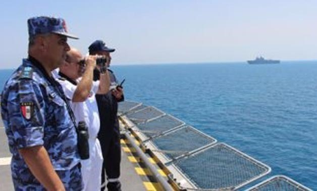 """Egyptian and French naval forces in a major mutual exercise """"Cleopatra 2017"""" - File Photo"""