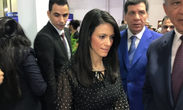 Press photo - Tourism Minister Rania el-Mashat at the Arabian Travel Market in Dubai on April 23, 2018