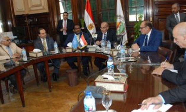 A part of the framework of the Egyptian national program of Egypt signing- press photo