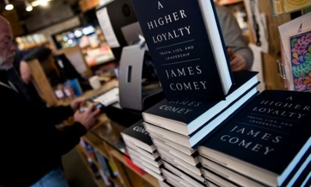 "Former FBI Director James Comey's new book, ""A Higher Loyalty,"" sold 600,000 copies in the first week of publication"