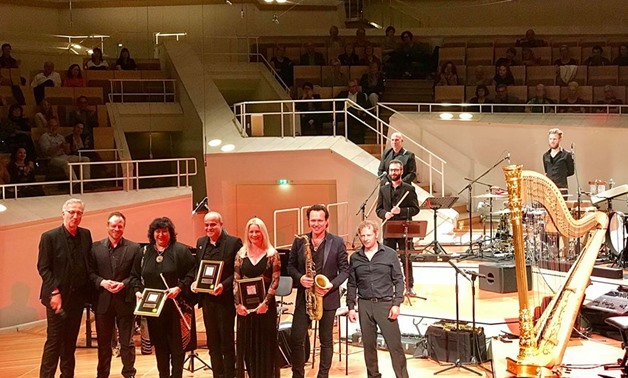 Ministry of Culture Ines Abdel Dayem received the German Jazz Music Award that went to Egyptian-German ensemble Cairo Steps along with German band Quadro Nuevo-Official Facebook Page