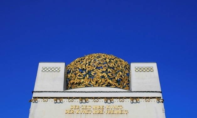 Thieves have stolen half a dozen of the copper leaves that make up the famous 'golden cabbage' on the roof of the iconic art nouveau Secession building in Vienna-AFP / ALEXANDER KLEIN