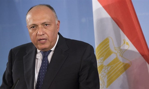 Egypt's Foreign Minister Sameh Shoukry – press photo