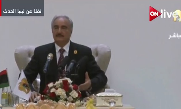 Commander of the Libyan National Army, Marshal Khalifa Haftar on Thursday April 26, after arriving in Benghazi - YouTube