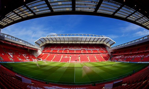 Liverpool stadium the Anfield - Press image courtesy of Liverpool's official Twitter