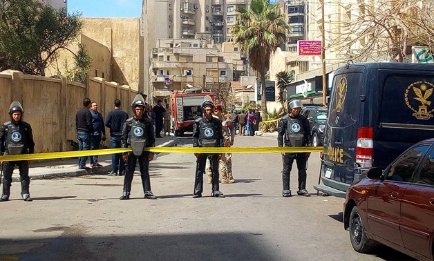 FILE: Security forces are deployed in Cairo to combat terrorism