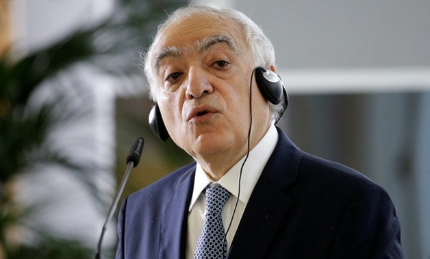U.N. Special Representative for Libya Ghassan Salame talks during a news conference in Rome - REUTERS