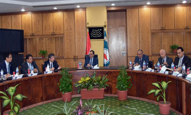 Petroleum Minister Tarek el-Molla during his meeting with Toyota Tsusho's official - Press photo