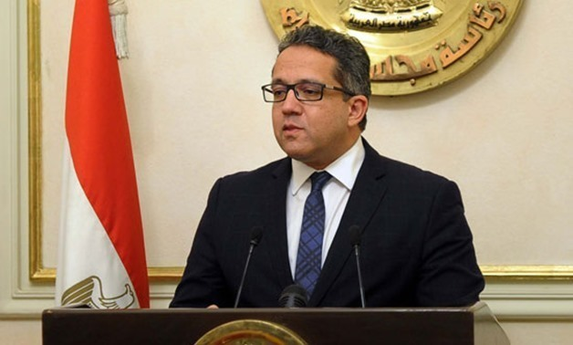 FILE - Egyptian Minister of Antiquities, Khaled al-Anani