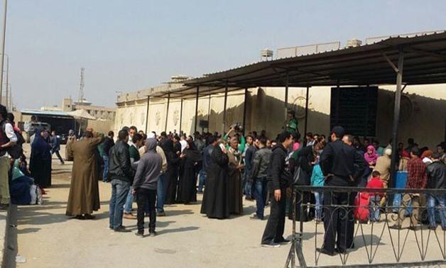 FILE - Pardoned prisoners in Egypt- press photo