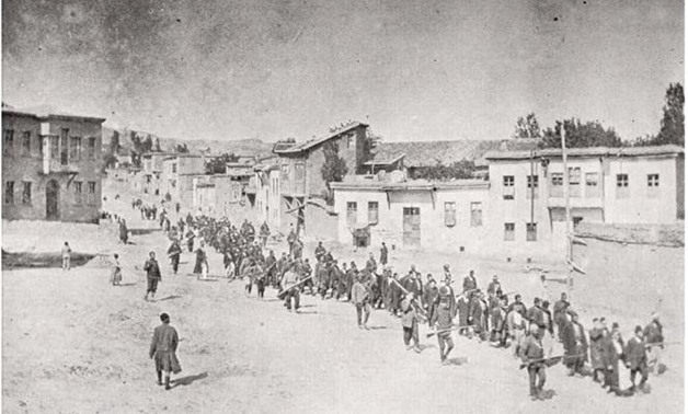 Armenians marched by Ottoman soldiers - Creative Commons via Wikipedia