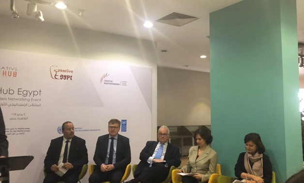 Creative Hub Egypt hosted Monday its first Strategic Stakeholders Networking Event at its premises in mohandeseen - Press Photo / Lolwa Reda