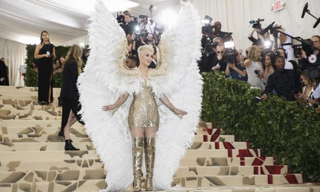 "Singer-Songwriter Katy Perry arrives at the Metropolitan Museum of Art Costume Institute Gala (Met Gala) to celebrate the opening of ""Heavenly Bodies - Reuters"